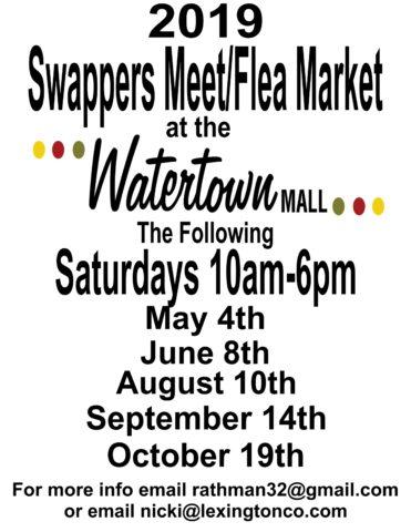 2019 Swappers Meet/Flea Market – Watertown Mall